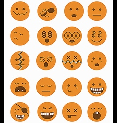 20 characters icons set 2 orange vector