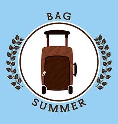 Summer vacations icon vector
