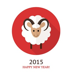 Ram symbol of 2015 vector