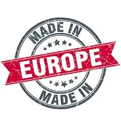 Made in europe red round vintage stamp vector