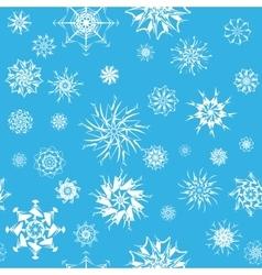 Elegant white snowflakes of various styles vector