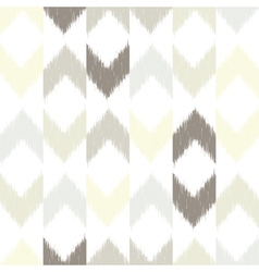 Chevron ikat seamless pattern vector