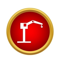 Hoisting crane icon in simple style vector