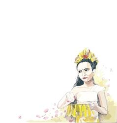Bali girl vector