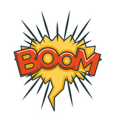 boom sound visualization in speech bubble in shape vector image vector image