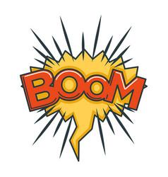 boom sound visualization in speech bubble in shape vector image