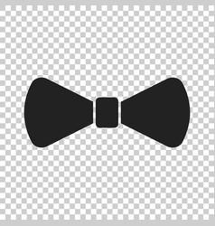Bow tie flat icon necktie vector