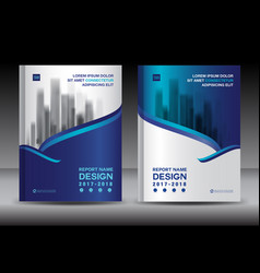 brochure template layout blue cover design flyer vector image vector image