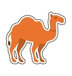 Camel animal silhouette vector