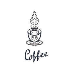 Coffee shop logo design template Retro coffee vector image vector image