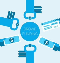 Crowdfunding concept vector image vector image
