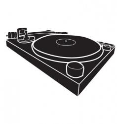 DJ decks vector image vector image