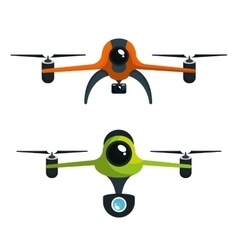 drone two with camera graphic isolated vector image vector image