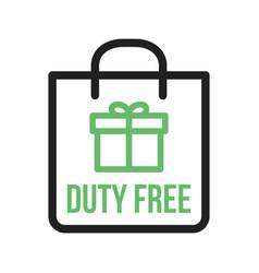 Duty free luggage vector