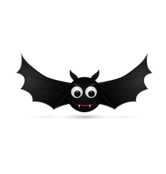 Flying bat isolated on white background vector image