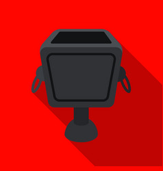 Garbage can icon in flat style isolated on white vector
