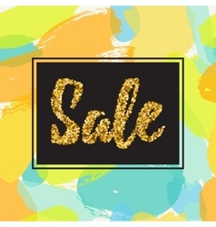 Gold glitter sale background vector