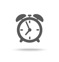 Grey alarm clock icon isolated vector image vector image