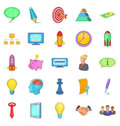 Group icons set cartoon style vector