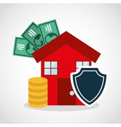 home insurance property concept icon vector image vector image