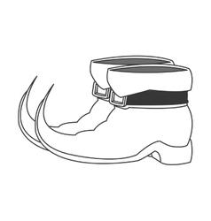 Leprechaun boots icon vector