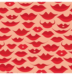 lips pattern vector image vector image