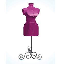 purple female mannequin - vector image