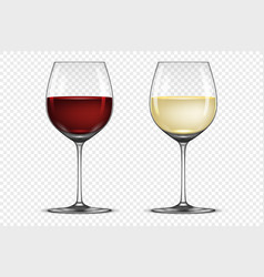 Realistic wineglass icon set - with white vector