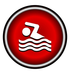 Swimming icon sign on white background vector image vector image