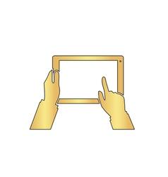 Use tablet computer symbol vector