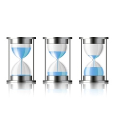 Water falling in the hourglass vector image vector image