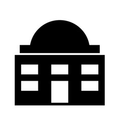 White house isolated icon vector