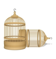 Wooden cage vector image vector image