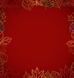 Different color autumn leaves frame vector image