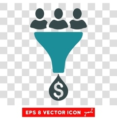Sales funnel icon vector