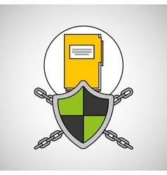 Security system data folder file vector