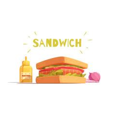 sandwich cartoon design vector image