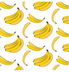 Banana pattern yellow summer plant vector