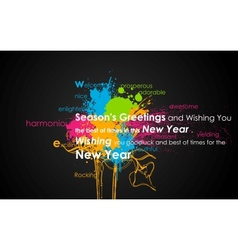 Colorful new year vector