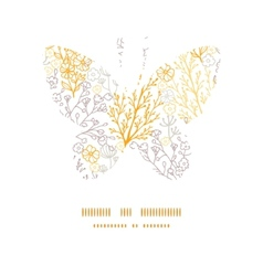 Magical floral butterfly silhouette pattern vector