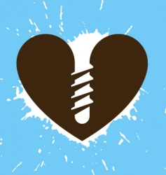 screwed heart vector image