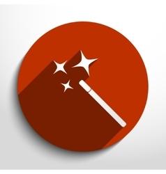 magic wand web icon vector image