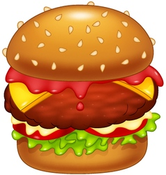 Cartoon burger vector