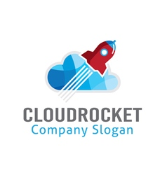 Cloud rocket design vector