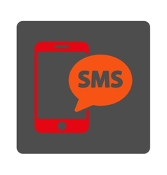 Phone sms rounded square button vector