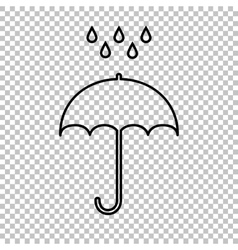Umbrella with water drops vector