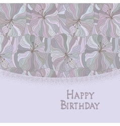 Boho style template happy birthday card design vector