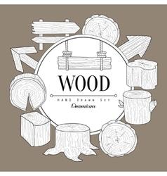 Wood Vintage Sketch vector image