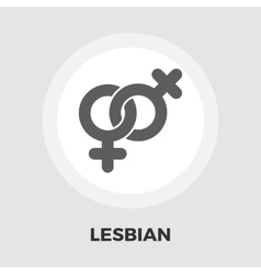 Lesbian sign flat icon vector