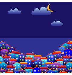 Town at night vector